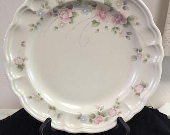 "Dinner Plate (10 3/8"") from Pfaltzgraff's Tea Rose Pattern"