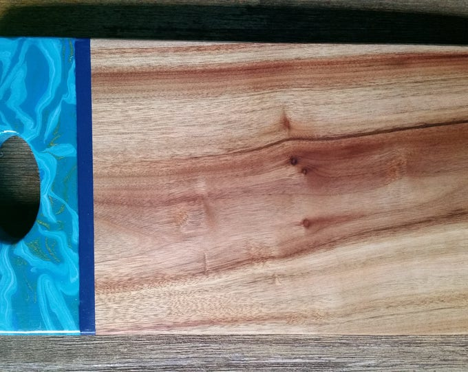 Camphour serving board customised with original artwork