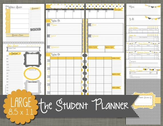 Handy image within printable student planner download
