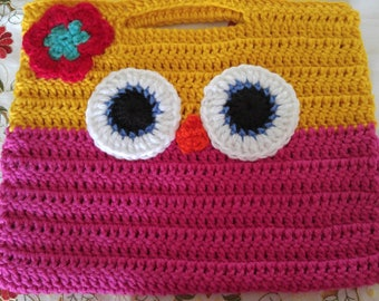 Owl purse/Little Girl's Owl Purse/Birthday Gift/Crocheted Purse/Colorful Bag/Valentine's Gift/Owl Bag/Crocheted Owl Bag