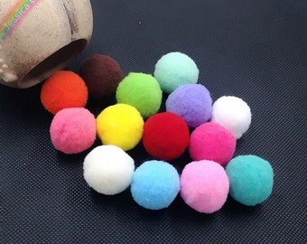 50pcs Assorted Colors High Density Polyester Pompom Balls Fiber Balls Mini Pom Poms Garlands Craft Supplies