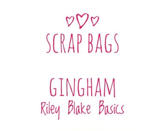 RBD Gingham fabric Scrap bag