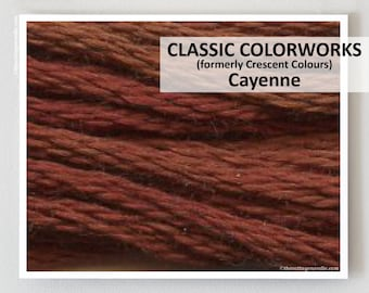 CAYENNE Classic Colorworks hand-dyed embroidery floss cross stitch thread at thecottageneedle.com