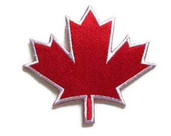 SALE!!! Red Maple Leaf Iron On Patch, Canada Maple Leaf Stick On Patch, Canadian Leaf Sticker, Embroidered Maple Leaf, Canada Backpack Patch