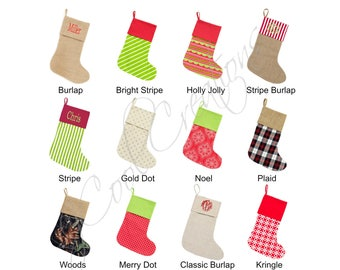 Personalized Christmas Stockings, Monogrammed Stockings, Christmas Stockings, Family Christmas Stockings, Baby Christmas Stocking, 1st