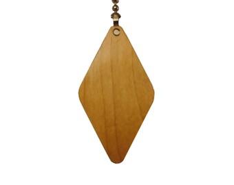 Wood Ceiling Fan Pull Chain-Maple-Diamond
