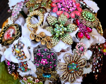 Vintage Brooch Bouquet, Deposit only