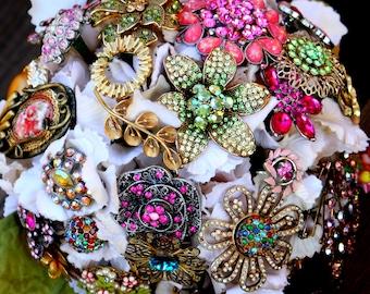 Vintage Brooch Bouquet, Deposit only