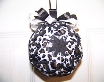 Animal Print Quilted Ornament