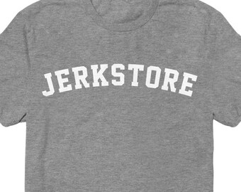 Seinfeld TShirt Jerk Store Varsity Typography - George Costanza Funny Tshirt - 90s Television Shirt