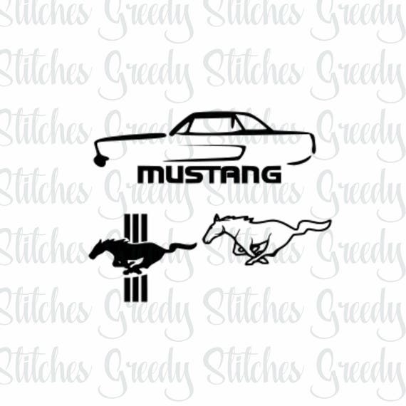 Ford Mustang Car svg dxf fcm eps and png.