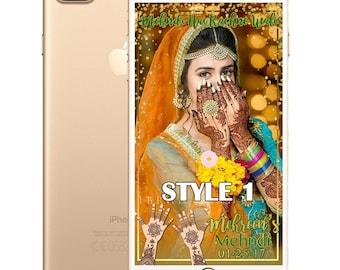 Mehndi or Sangeet or Dholki SnapChat Filter for Indian Weddings