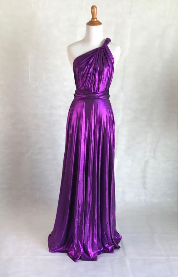 Shiny Infinity Dress wrap dress bridesmaid dressparty dress