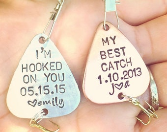 Fishing Lure, Gifts For Dad, Boyfriend Gift,Personalized Fishing Lure, Hand Stamped Fishing Lure, natashaaloha,