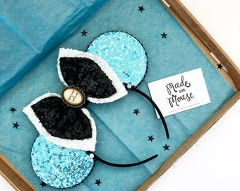 The Full Sequin (Alice) - Handmade Alice In Wonderland Inspired Mouse Ears Headband