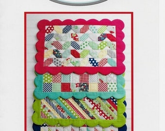 pattern Scrappy Placemats by Bonnie Olaveson, Cotton Way, New Uncut Sewing Pattern, Free US Shipping