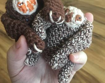 Crochet Sloths, Set of 2