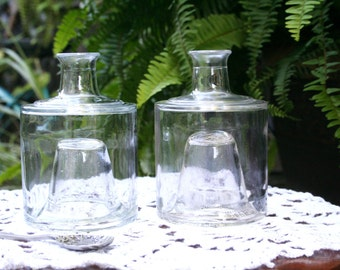 Vintage 1992 Oil and Vinegar Glass Stack-able Jars