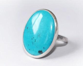 Oval Turquoise Ring, Turquoise Ring, Turquoise Silver, Turquoise Jewellery, Natural Turquoise Ring, December Birthstone Ring
