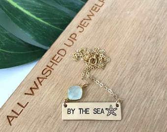 New! // By The Sea Gold Fill Bar Necklace