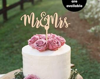 Mr & Mrs cake topper, Wedding Cake Topper, Shower Cake Toppers, Mr and Mrs Cake Topper, gold Cake Topper, Glitter, Silver CT-030