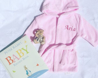 Personalised Baby Bathrobe / Baby Gift / 1st Birthday /Child Bathrobe