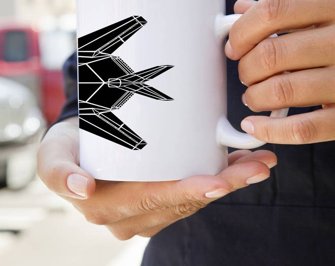 KillerBeeMoto:   F-117 Nighthawk Stealth Fighter Jet Coffee Mug