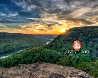 Chattanooga Landscape Photography - Tennessee River Gorge in Chattanooga Tennessee.