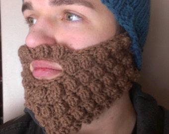Bearded Hat Pattern - Knit and Crochet - Instant Downloadable Pattern