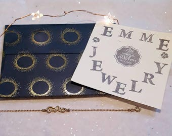 Simple and simple bracelet, gold hand-made bracelet, minimalist, customizable