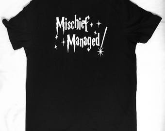 Harry potter shirt, mischief managed, disneyworld, disney land