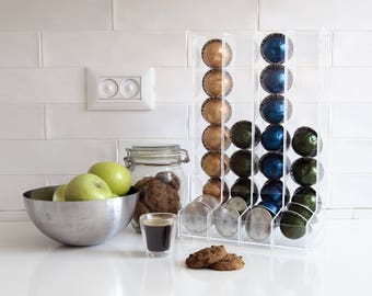 Nespresso Vertuoline Clear Coffee Pod Holder, Large Pod Holder, Kitchen  Organizer, Minimal Decor