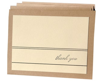 Thank You Cards for Men, masculine thank you cards, simple thank you cards, thank you card set