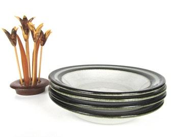 Arabia Finland Karelia Cereal Bowls, Set Of 4 Stoneware Arabia Finland Soup Bowls