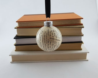 Vintage Book Ornament | Christmas Ornament | Mary Poppins Ornament | Book Ornament | Ball Ornament | Book Lover Gift | Teacher Gift
