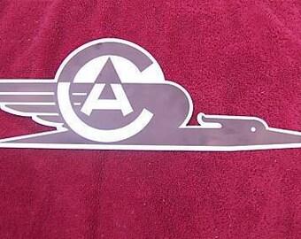 COMMONWEALTH AIRCRAFT CORPORATION Aluminium Logo Plaque - 3mm Aluminium