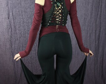 Organic Mermaid Yoga pants in Black, Festival Gear, Cosplay Fun, Dance Culture, Sustainable is Sexy
