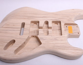 BYOGuitar 1 Piece Swamp Ash Strat Guitar Body  Unfinished