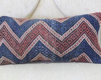 Home Decor Pillow 10x20 Vintage Kilim Pillow 10x20 Kelim Rug Pillow Throw  Pillow Rectangle Pillow Kelim