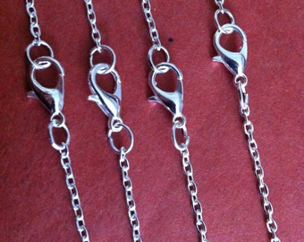 20pcs 50cm silver Color Necklace Chain For Jewelry Making 1.5mm