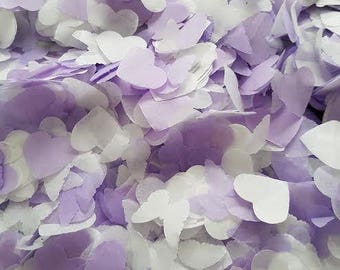 Ligh purple White Biodegradable throwing and table decor confetti Wedding Birthday,Baby shower and many more decor 3-200 handfuls