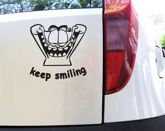 FUN STICKERS, keep smiling, car, laptop decals