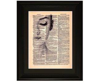 "Audrey"".Dictionary Art Print. Vintage Upcycled Antique Book Page. Fits 8""x10"" frame"