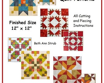 4 Barn Quilt Patterns - The Quilt Ladies - PDF downloads in MOMENTS