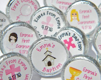 First Communion Favors - Personalized First Communion Favors - First Communion Hershey Kisses Favors - First Communion Hershey Kisses