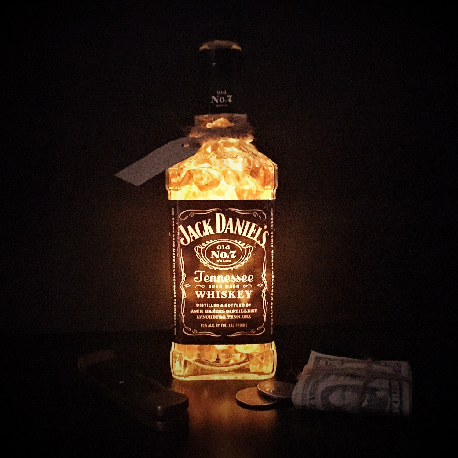 Man cave decoration jack daniels table light glowing table zoom arubaitofo Choice Image