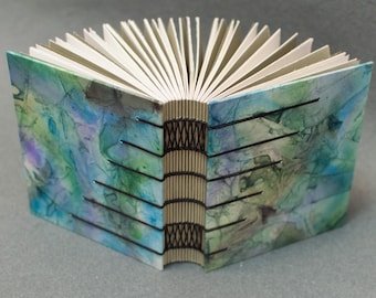 Handmade Coptic Sketchbook or Journal - Blue and Gray