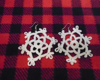 """Crocheted Earrings """"Snowflakes"""""""
