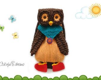 "Crochet pattern backpack ""Owl"""