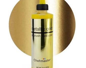 METALLIC GOLD Chefmaster Airbrush Color